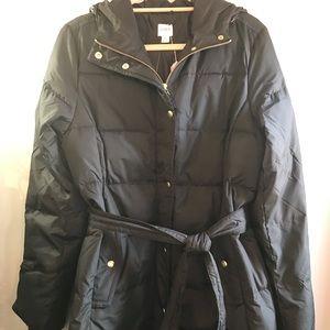 J Crew women's black coat size L NWT